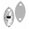 Preciosa Sew-on Mc Navette 2Ho 12x6mm Crystal